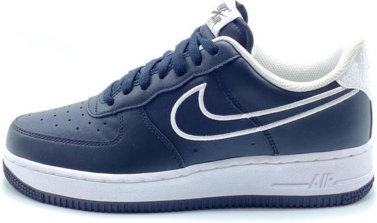 Nike Air Force 1 '07 Leather (Zwart/Wit) - Maat 47.5