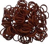 50 gram - elastiek - bruin - Ø15 x 1,5mm - in zak - ca 250 stuks