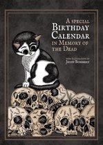 Kat Verjaardagskalender Memento Mori - Kawaii Kattenkalender - Gothic Kalender Verjaardag - Doden Kalender - Creepy Cute Birthday Calendar Cats - Katten en Poezen Illustraties - Schattig Eng Poes - Uniek Nederlands Design