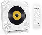 CD-Speler Draagbare met Bluetooth - 5 in 1 Aan de wand Monteerbare CD-speler - Veilig voor kinderen - Met Afstandsbediening