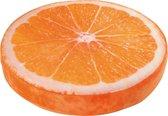 Super zacht oranje sinaasappel zitkussen (rond)