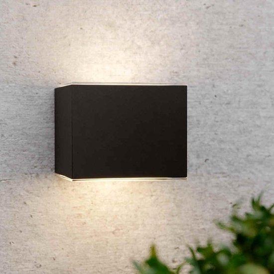 Solar wandlamp up downlight kubus - Design - Antracietgrijs - Tuinverlichting op Zonne-energie
