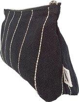 ANNA NERA Fairtrade Etui - Make up tasje - Toilettasje - Toiletry bag Jute M black 300-030