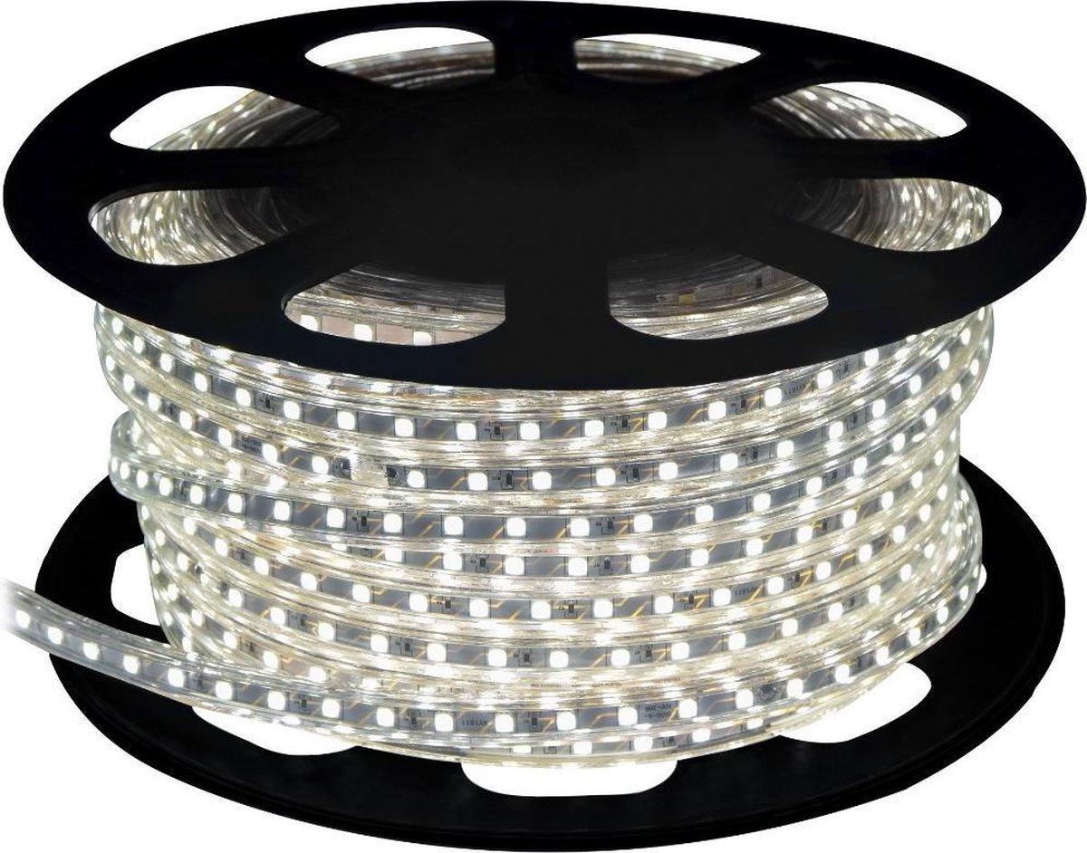 Koud Wit LED Strip - IP65 - 25 Meter - 220V - inkortbaar