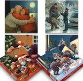 Marius van Dokkum kerstkaartenboxje (20 krt) set 2