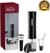 Elektrische Wijnopener - Rs&k - Kurkentrekker - Luxe Wijnopener Set - Automatische Wijnopener - Flessenopener- Geschenkset - Inclusief 3 extra items