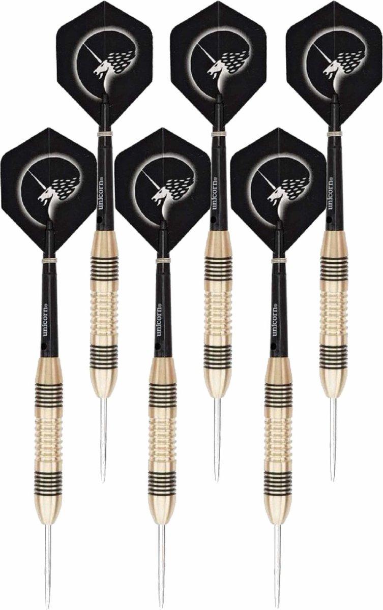 4x Set van 3 dartpijlen Core Brass 23 grams - Darten/darts sport artikelen pijltjes messing