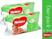 Duo pack-Huggies Babydoekjes Natural 56 Stuks (5029053550152)
