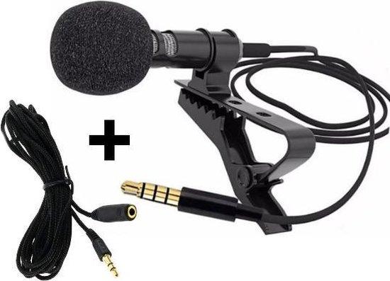 Clip-On Microfoon met Audio Verlengkabel Female To Male - 3.5 mm