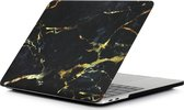 Hardcover Case Cover Voor Apple Macbook Pro 13.3 Inch 2020/2021 (A2289/A2251/A2338) Hard Shell Hoes - Notebook Sleeve Skin Protector Hardshell - Hardcase Beschermhoes - Marmer - Zwart/Goud