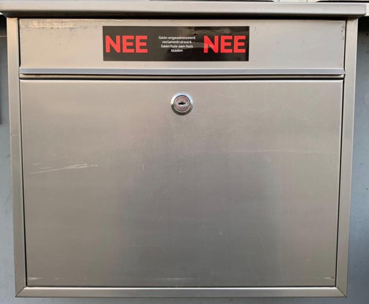 Nee Nee Sticker Brievenbus - Regenbestendig