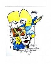 Herman Brood litho Madonna 1993