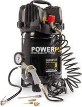 Powerplus POWX1731 Compressor - 8 bar - 24 liter tankinhoud - incl. accessoires