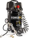 Powerplus POWX1731 Compressor - 8 bar - 24 liter tankinhoud - incl. accessoires