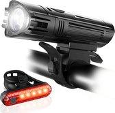FIEZIO Fietsverlichting - USB Oplaadbaar LED Fietslampen – Waterdicht