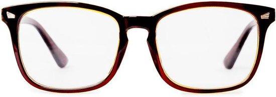 Vendetti Anti Blauw Licht Computerbril – Blue Light Blocking Glasses – PC Glasses – Gaming bril – Blauw Licht Filter Bril – Unisex – Beeldscherm bril – Sterke filter tegen vermoeide/branderige ogen – Goudbruin/Transparant