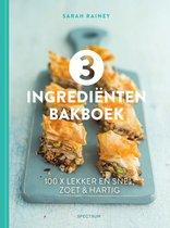 Omslag 3 ingrediënten bakboek