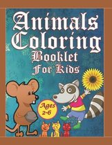 Animals Coloring Booklet For Kids Ages 2-6
