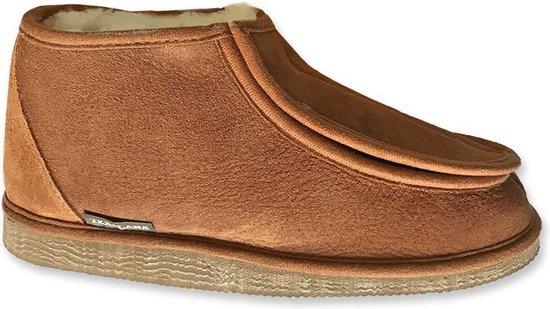 Texelana sloffen en pantoffels voor dames & heren - pantoffel van schapenvacht met ruime instap door klittenband sluiting - model Sarah - maat 38