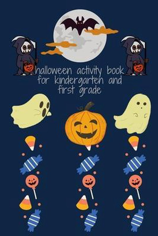 halloween activity book for kindergarten and first grade