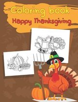 Coloring book Happy Thanksgiving