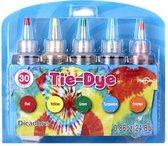 Tie Dye Kit - Tie Dye Set - Tie Dye - Knutselset - Tie-dye ontwerpstudio - Regenboogkleuren - Hoogwaardige kwaliteit - Kindvriendelijk - Incl. handschoenen en elastiekjes - Knutselen - SinterklaasCadeau