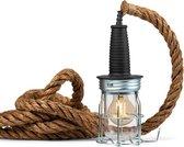 Industriële kooilamp | touwlamp | hanglamp