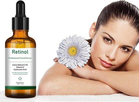 SIMIA™ Original Active Retinol Serum - Met Vitamine E & Hyaluronzuur - Gezichtsserum - Collageen - Anti Aging - Celvernieuwing - Anti-Acne - Tegen Mee-eters en Grove Poriën - Tegen Pigmentvlekken - 30ml