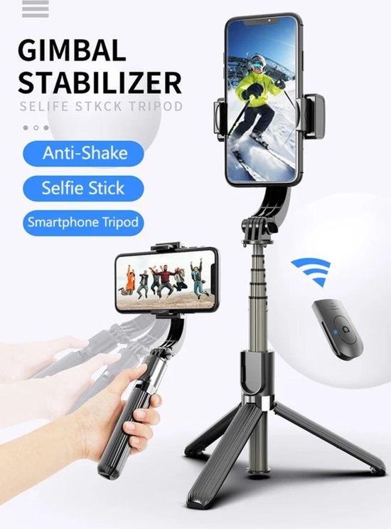 bol.com | BeeGoods - BG Gimbal stabilizer selfie stick - Mini Statief  Smartphone Tripod Camera...