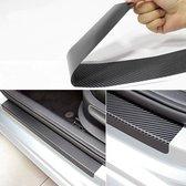 Instaplijsten Auto - Autodeur sticker - Autolijst Beschermer - Autodeur instaplijst - Beschermfolie - Universeel - Carbon Zwart