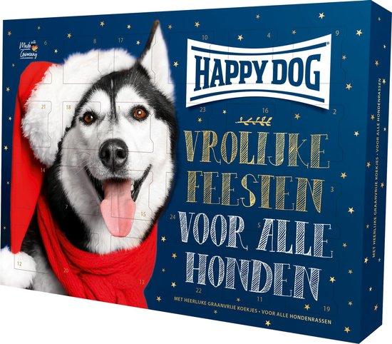 Happy Dog Kerst Adventskalender voor honden - Graanvrij -  Hondensnack