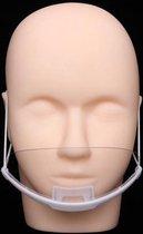 Face shield gelaatsscherm transparant mondmasker v