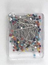 glaskopspelden 200 stuks - spelden met glaskop - kopspelden in hersluitbaar doosje - topcadeau creatief