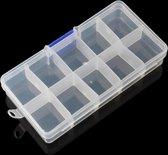 DW4Trading® Assortiment doos 10 vakken 12,5x7 cm KLEIN, 1 vak = 3 x 3,5 cm