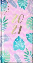 Agenda Tropical Roze - Pocket 2021 - 8,5x15,5cm - 1week/2pagina - Hardcover