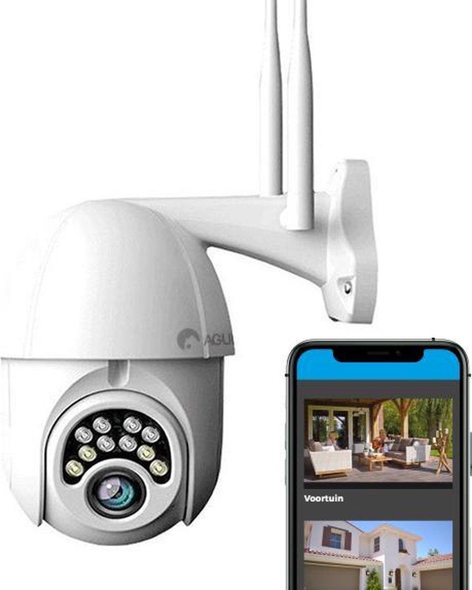 Agunto 1080P Buitencamera - Beveiligingscamera - WiFi - Bewakingscamera voor buiten - IP Camera - In