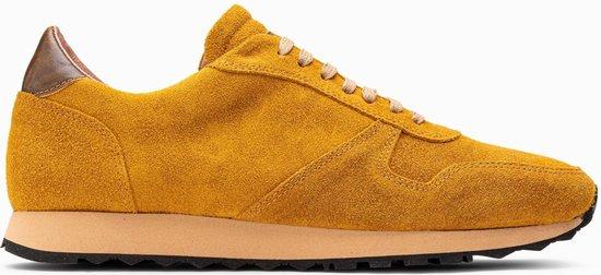 Paulo Bellini Sneaker San Marino Suede Oker Geel.