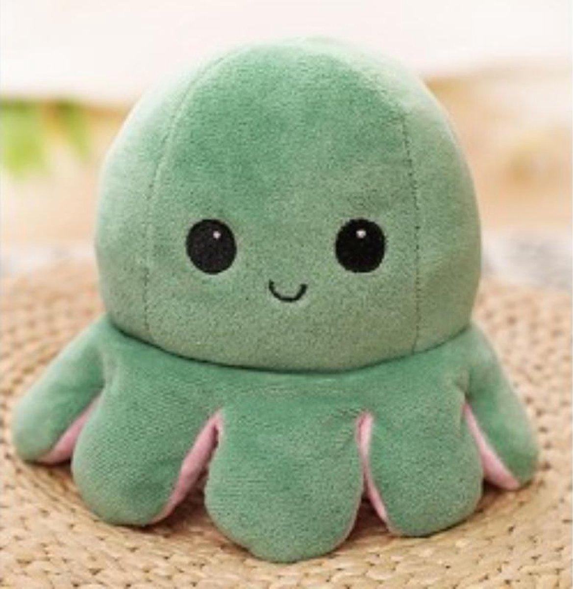Octopus knuffel - Octopus knuffel mood - octopus knuffel omkeerbaar - reversible - emotieknuffel - m