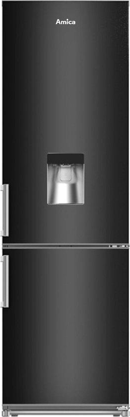 Koelkast: Amica AF8281DN Koel-Vriescombinatie Zwart met gekoeld water-dispenser, van het merk Amica