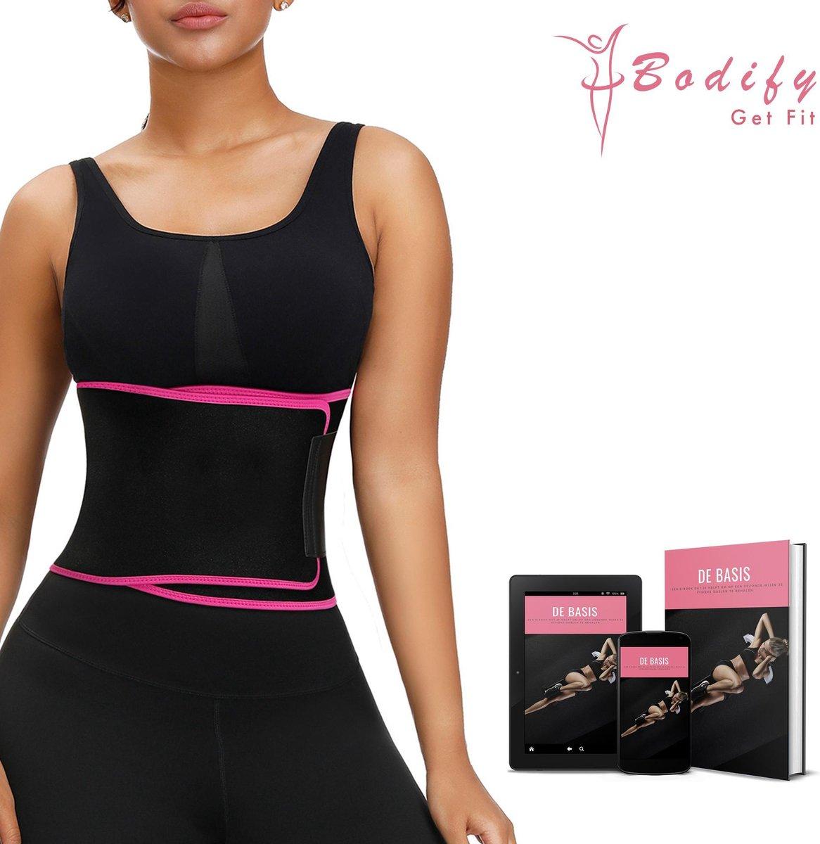 Bodify  Afslankband-Incl. E-Book-Zweetband-Sauna Belt-Sweat Belt-Waist Trainer-Waist Shaper-Shapewea