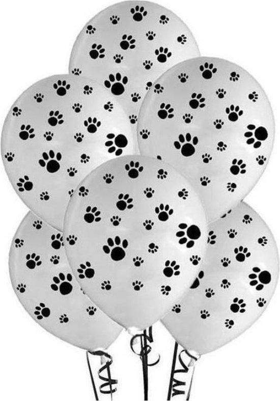 Hondenpootjes Ballonnen, 10 stuks, Verjaardagsfeest, kinderfeest, honden, themafeest, dieren
