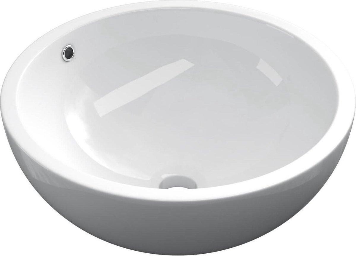 Keramische ronde opbouw waskom Bola ø45cm wit