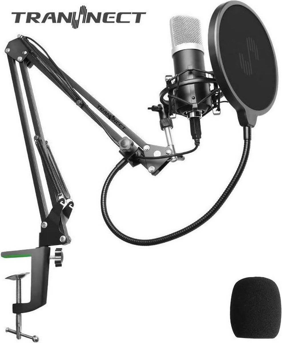 BM800 - Condensator Studio microfoon met Arm Schuimhoes, Schokdemping Popfilter en Ingebouwde Geluid