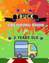 Truck coloring book for 2 YEARS OLD
