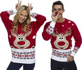 "Foute Kersttrui Dames & Heren - Christmas Sweater ""Rudolf"" - Kerst trui Mannen & Vrouwen Maat XXXXL"