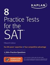 Boek cover 8 Practice Tests for the SAT van Kaplan Test Prep