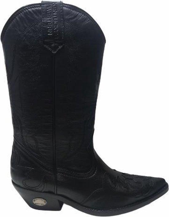 Kentucky's western lederen cowboy laarzen eagle 7053 zwart mt 40