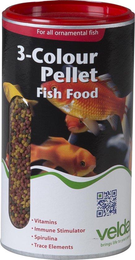 Velda 3-Colour Pellet Food 880 G2500 ml - Visvoer