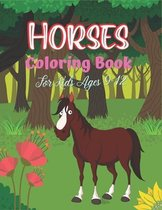 Horses Coloring Book For Kids Ages 9-12