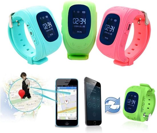 Kinder Smartwatch - Zwart - GPS - kinderen - smartwatches - gps tracker